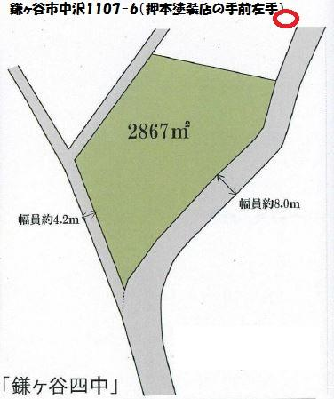 鎌ヶ谷市中沢 1107-6の手前左手