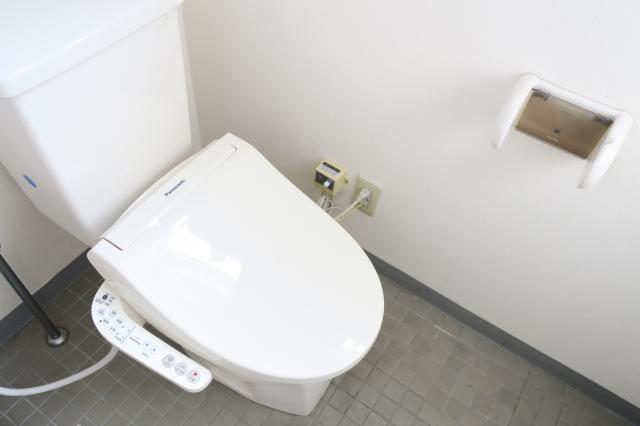 トイレは男女別で使いやすい。